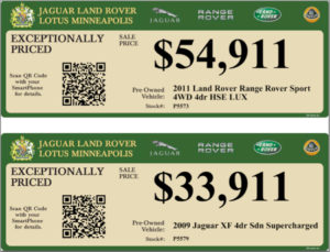 Dealer Hang Tags – Window Pricing Stickers