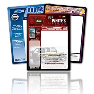 Vehicle window stickers