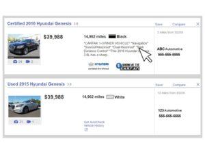 Vehicle Descriptions Comments